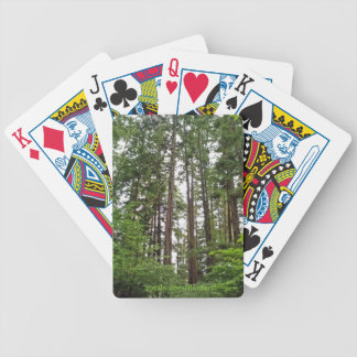 Tall Trees Bicycle Playing Cards