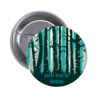 Tall Trees forest -  teal Button
