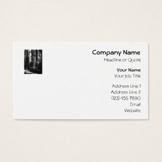 Tall Trees in Black and White. Business Card