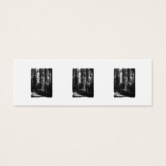 Tall Trees in Black and White. Mini Business Card