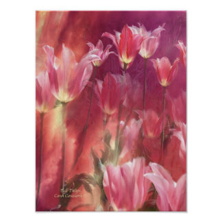 Tall Tulips Art Poster/Print Poster