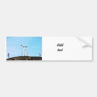 Tall Turbines Bumper Sticker