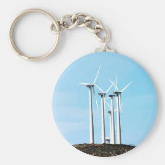 Tall Turbines Keychain