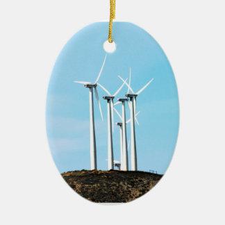 Tall Turbines Christmas Tree Ornaments