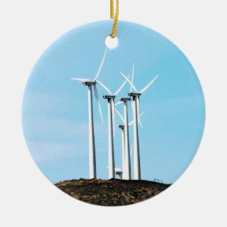 Tall Turbines Christmas Ornaments