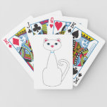 Tall White Cat Bicycle Card Decks