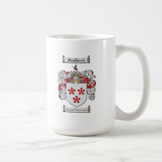 Tall white coffee mug
