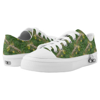 Tall Wild Grass Nature Pattern Low-Top Sneakers