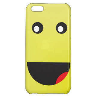 Tall Yellow Happy Face Cover For iPhone 5C