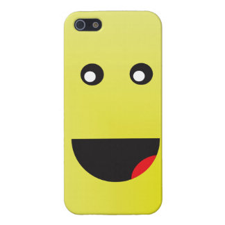 Tall Yellow Happy Face iPhone SE/5/5s Case