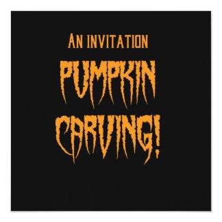 Talla de la calabaza de Halloween Invitación 13,3 Cm X 13,3cm
