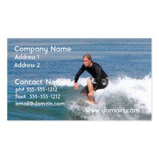 Talla de la persona que practica surf tarjeta de visita