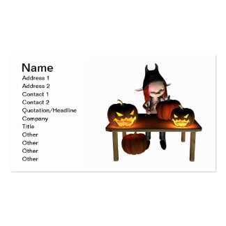 Talla de las linternas de la calabaza de Halloween Tarjetas De Visita