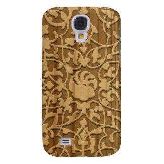 Talla de madera árabe bonita funda para galaxy s4