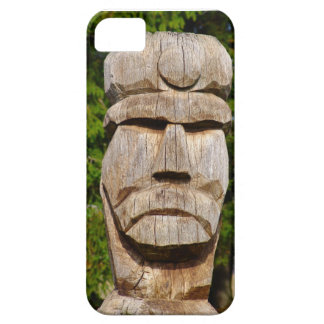 Talla de madera tradicional rumana iPhone 5 fundas