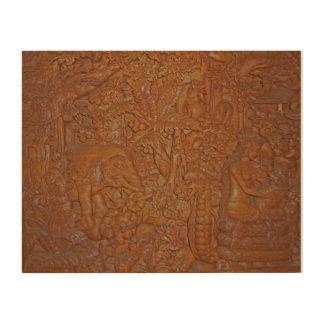 Talla de madera única de Bali Cuadro De Madera