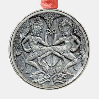Talla de piedra de los bailarines camboyanos ornamento para reyes magos