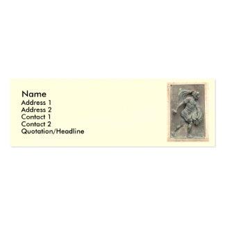 Talla de piedra del guerrero azteca plantillas de tarjetas de visita