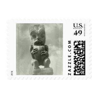 Talla maorí de Nueva Zelanda Sello Postal