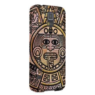 Talla maya antigua del disco del maya carcasa para galaxy s5