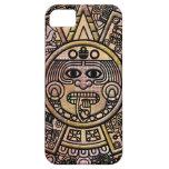 Talla maya antigua del disco del maya iPhone 5 Case-Mate protectores