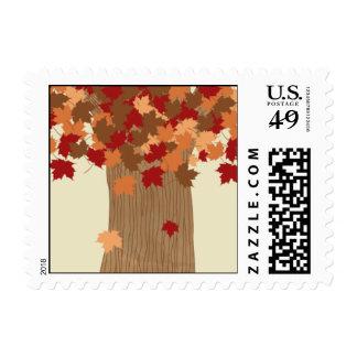 Tallado en otoño sellos