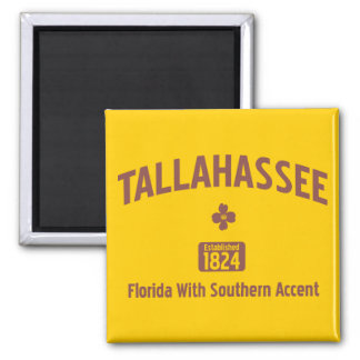 TALLAHASSEE: 1824 2 INCH SQUARE MAGNET