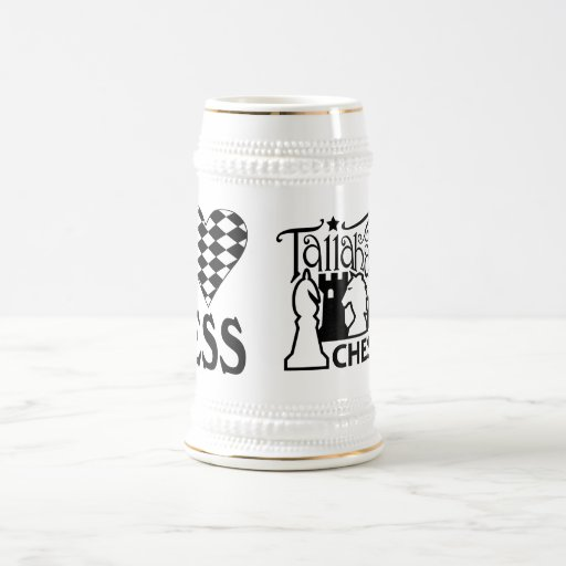 Tallahassee Chess Club I Love Chess Stein Coffee Mug