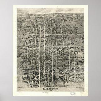 Tallahassee Florida 1926 Panoramic Map Poster