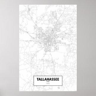 Tallahassee, Florida (black on white) Poster