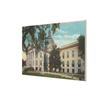 Tallahassee, Florida - Exterior View of State Canvas Print