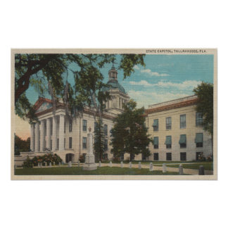 Tallahassee, Florida - Exterior View of State Poster