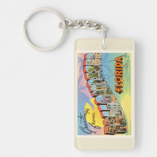 Tallahassee Florida FL Old Vintage Travel Souvenir Keychain