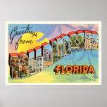 Tallahassee Florida FL Old Vintage Travel Souvenir Poster