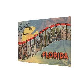 Tallahassee, Florida - Large Letter Scenes Canvas Print