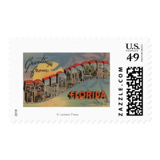 Tallahassee, Florida - Large Letter Scenes Stamp