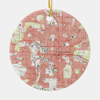 Tallahassee Florida Map (1970) Ceramic Ornament