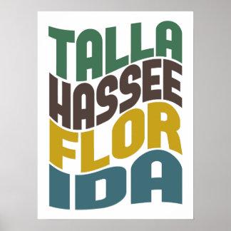 Tallahassee Florida Retro Wave Poster