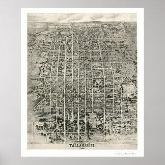 Tallahassee, mapa panorámico de FL - 1926 Poster