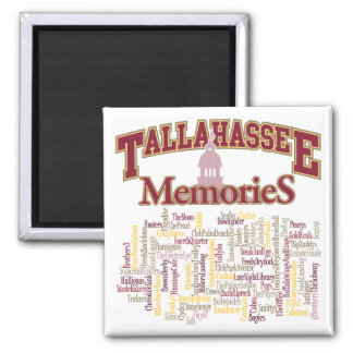 Tallahassee Memories 2 Inch Square Magnet