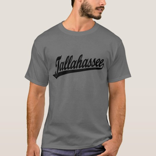 Tallahassee script logo in black T-Shirt