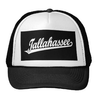 Tallahassee script logo in white hats