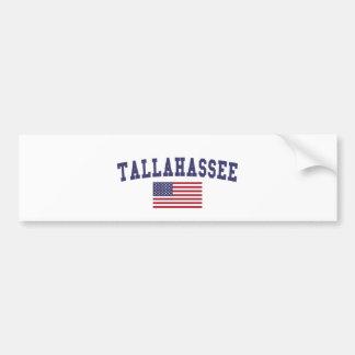 Tallahassee US Flag Bumper Sticker