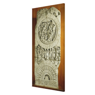 Tallando representando una historia del Jatakas, A Impresión En Lienzo Estirada