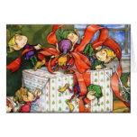 Taller de los duendes - tarjeta de Navidad
