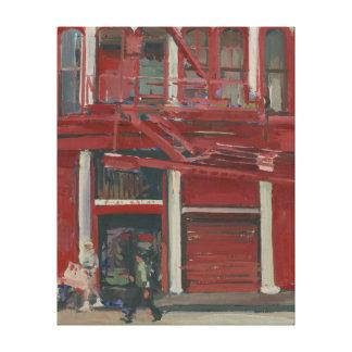 Taller de pintura de la perla Manhattan Lienzo Envuelto Para Galerías