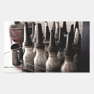 Taller de reparaciones de la Botella-Antigüedad de Pegatina Rectangular