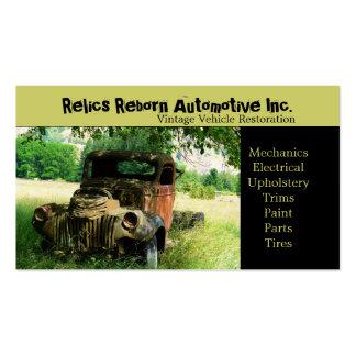 Taller de reparaciones del camión viejo antiguo tarjetas de visita