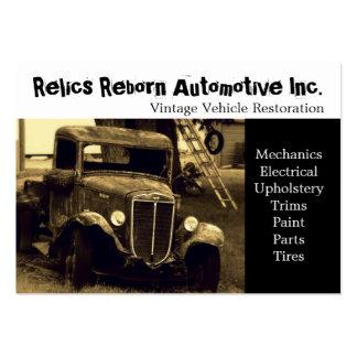 Taller de reparaciones del camión viejo tarjetas personales