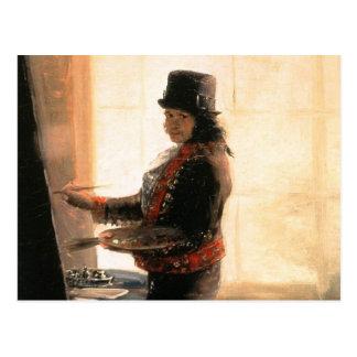 Taller del autorretrato - Francisco de Goya Postal